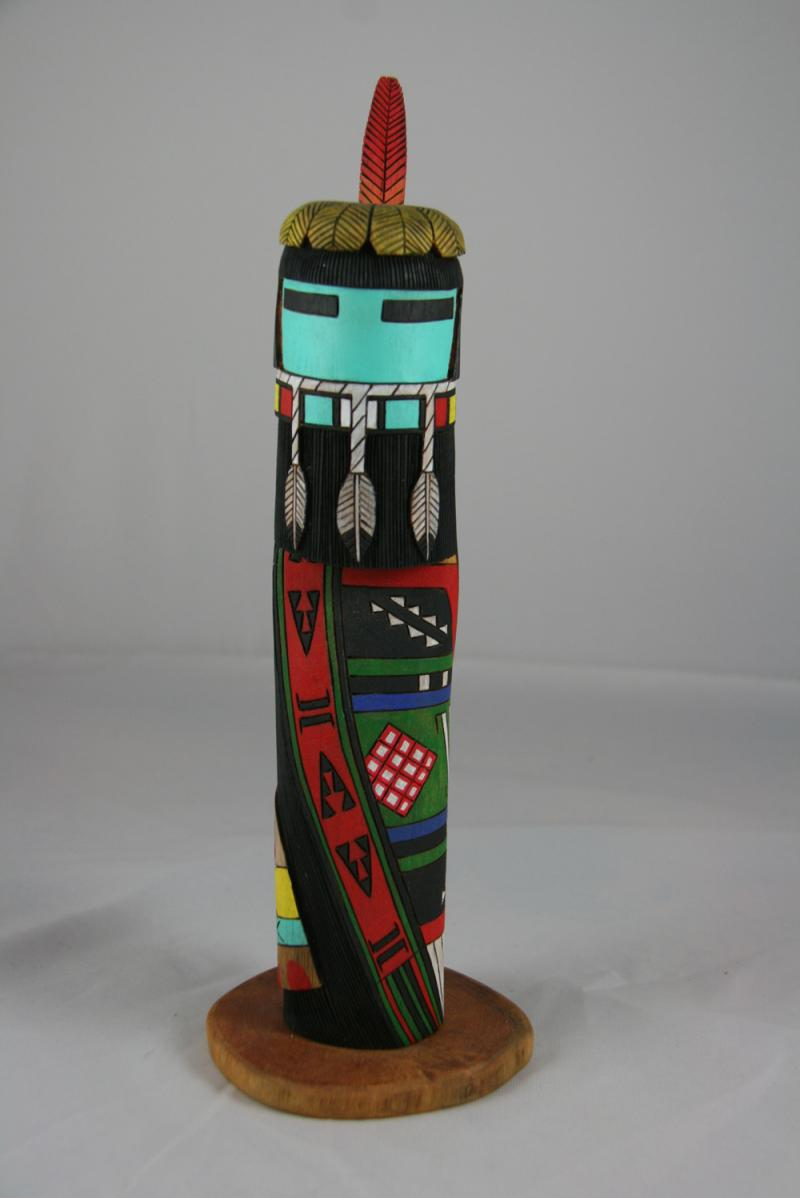 Long Hair Black Beard Kachina Carving