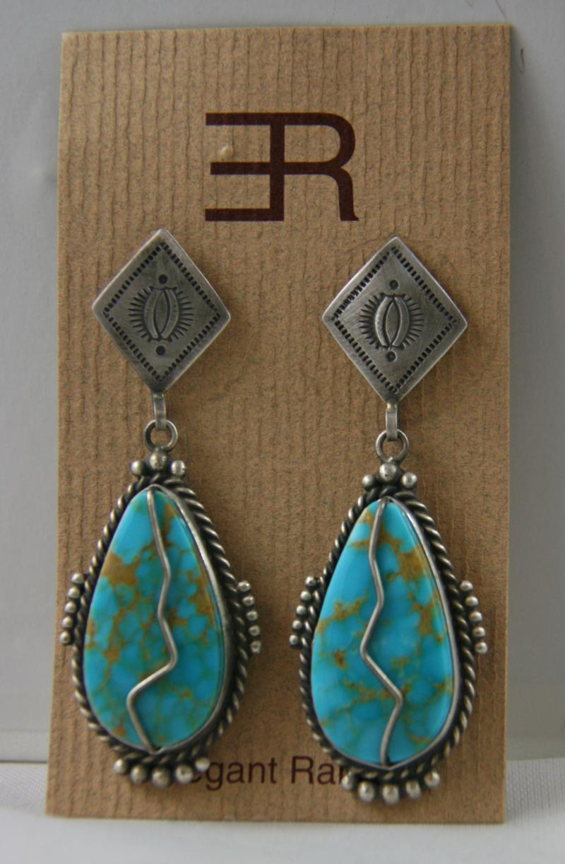 Fritzon Toledo Kingman Turquoise Earrings