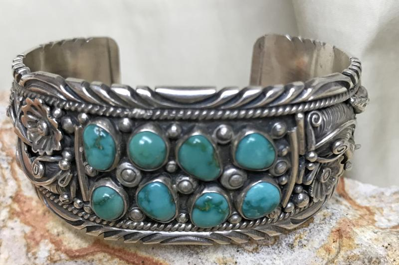 George Begay Sterling Bracelet