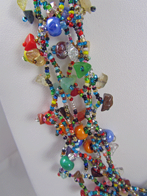 Guatemalan Beaded Necklace with Magnetic Clasp