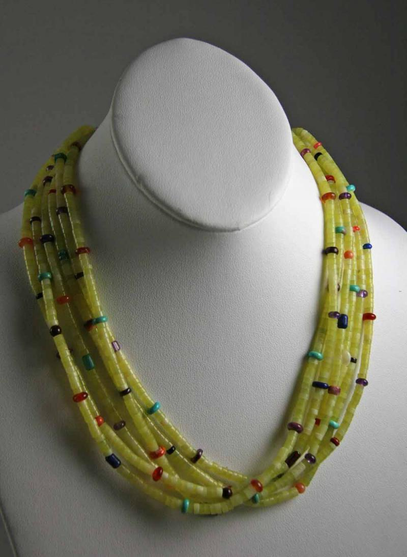 Serpentine Navajo Necklace