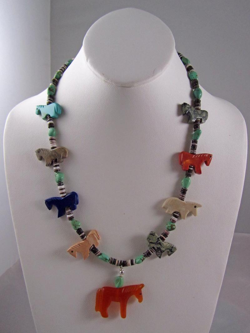 Navajo Horse Necklace
