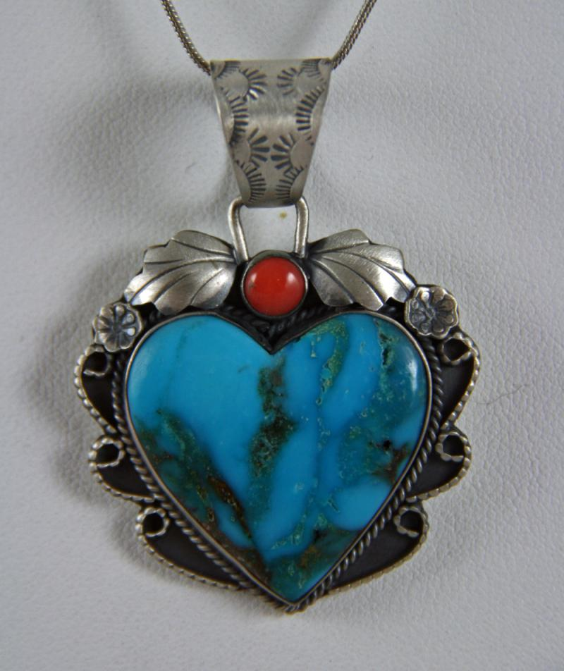 Martha Willeto Heart Pendant