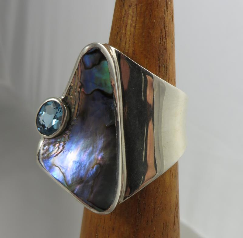 Marta Howell Paua Shell Ring
